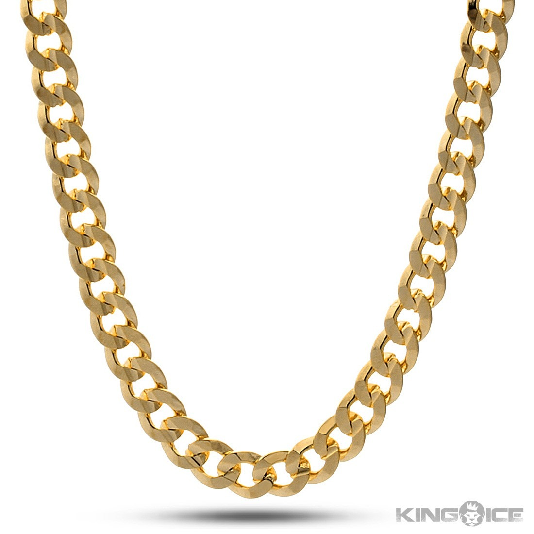 King Ice 8Mm Gold Cuban Curb Chain | Blingby