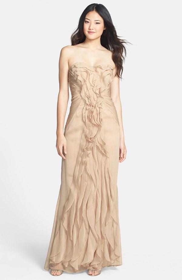 Adrianna Papell Ruffled Chiffon Dress | Blingby