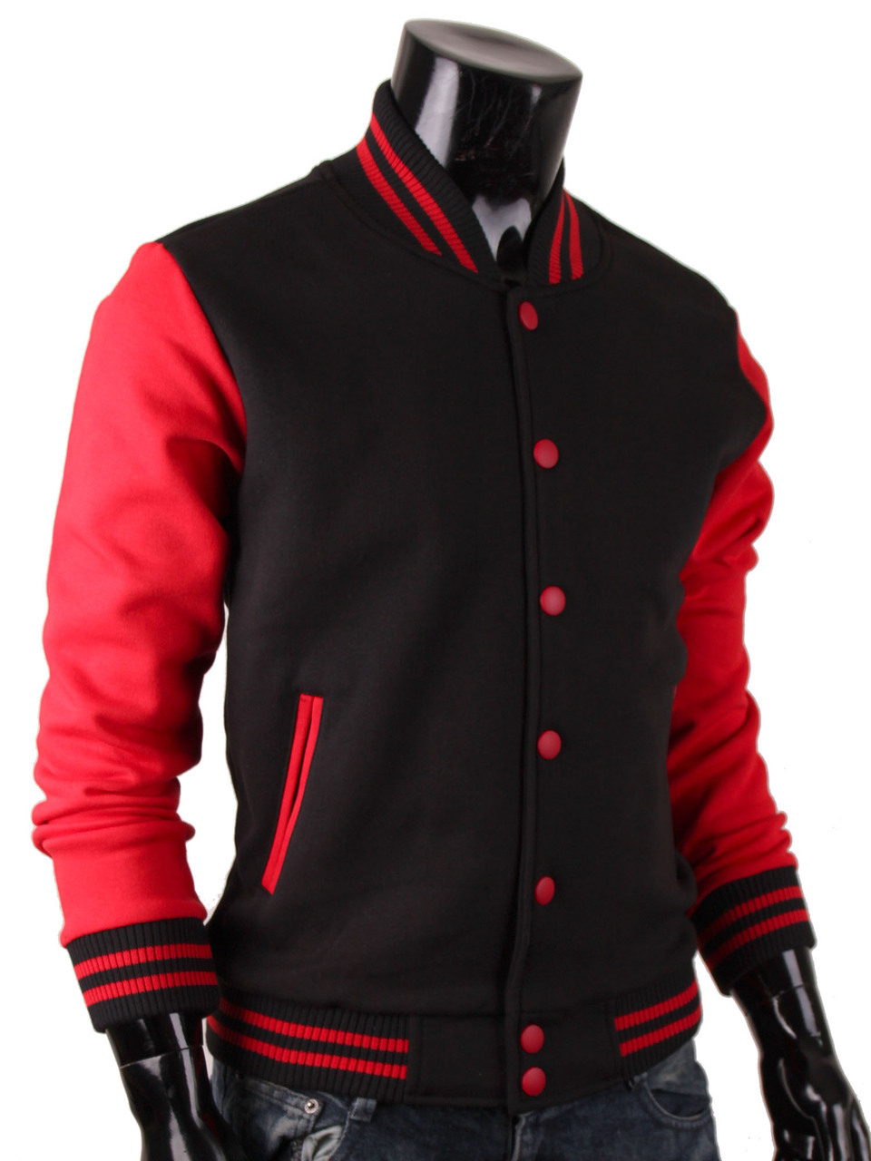 Men's Sweatshirt Baseball Jacket Varsity Jacket Cotton Jacket ...