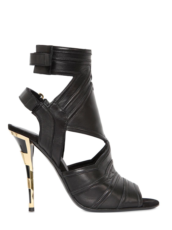 Balmain 110mm Kali Leather Sandals