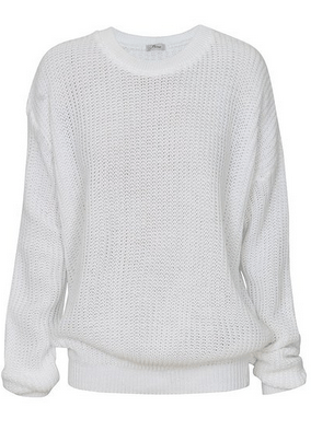 Ladies New Plain Chunky Knit Loose Baggy Oversized Jumper Tops ...