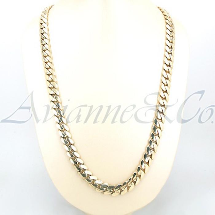 0b4f3dbd6 14K Yellow Gold Mens Cuban Chain 44