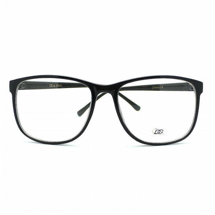 Large Rectangular Glasses Frame : DG Eyewear Nerdy Geek Large Rectangular Thin Plastic Frame ...