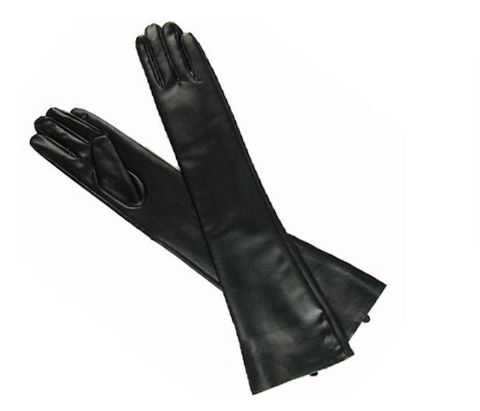 New Hot Sexy Black PU Long Arm Warmer Dress Up Gloves