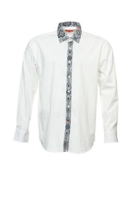 tallia tallia orange men 39 s white paisley dress shirt blingby