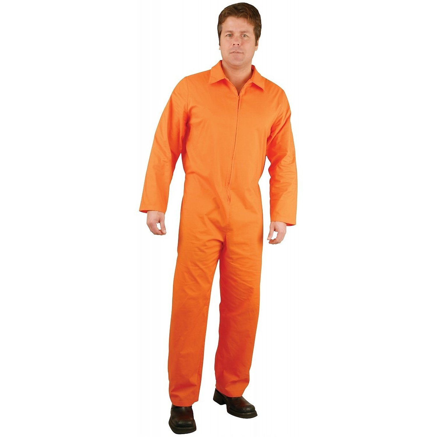 Mens Orange Jumpsuit Costume