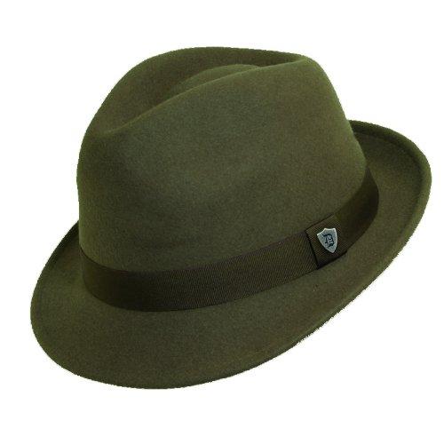 Dorfman Pacific Men's Wool Felt Snap Brim Hat