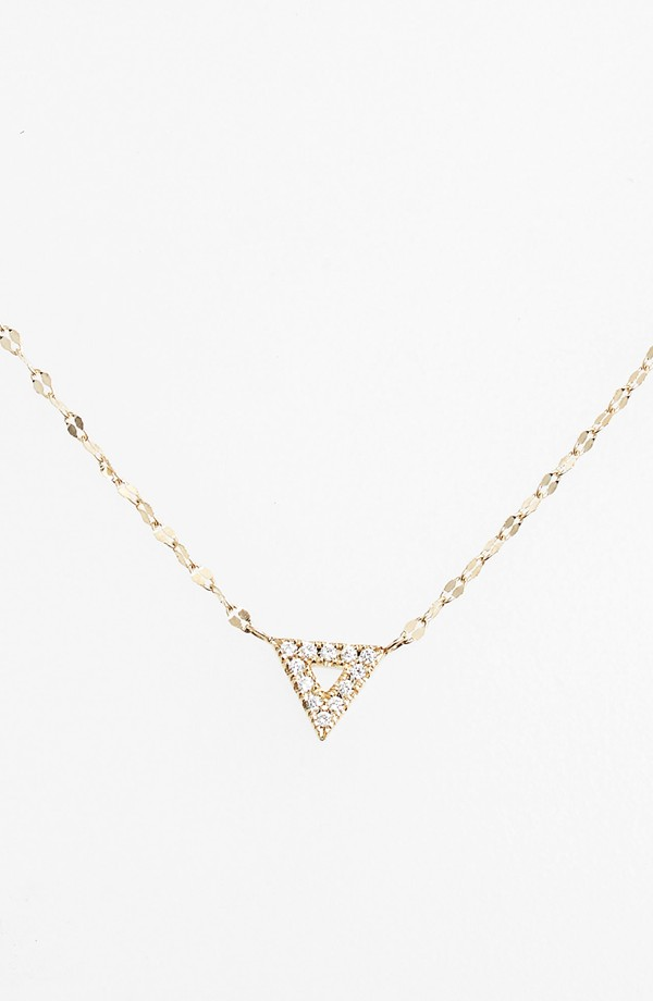 silver pendant triangle from hot silhouette medium hillier jewellery diamonds