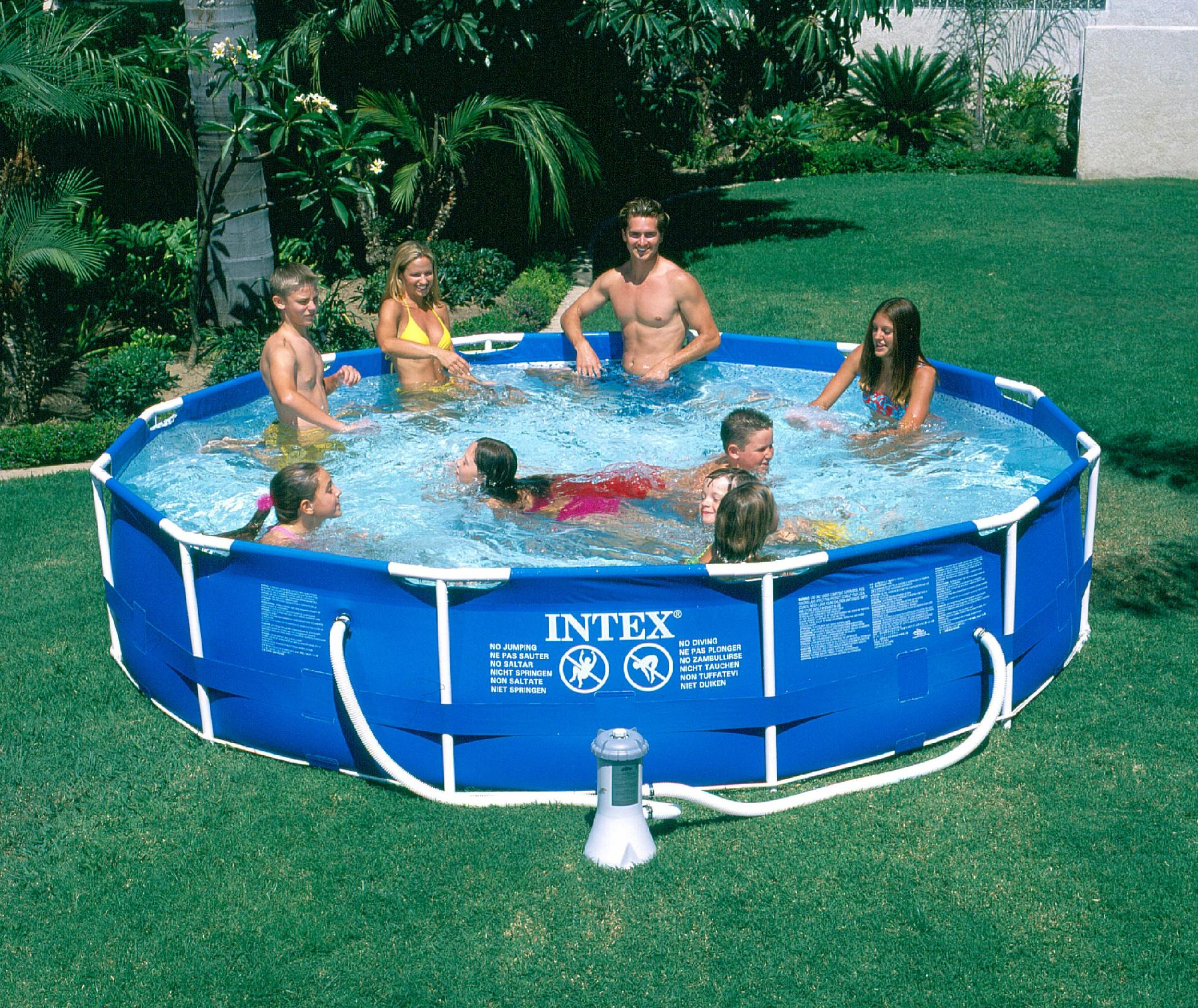 Exelent Intex 12ft Metal Frame Pool Cover Composition - Picture ...