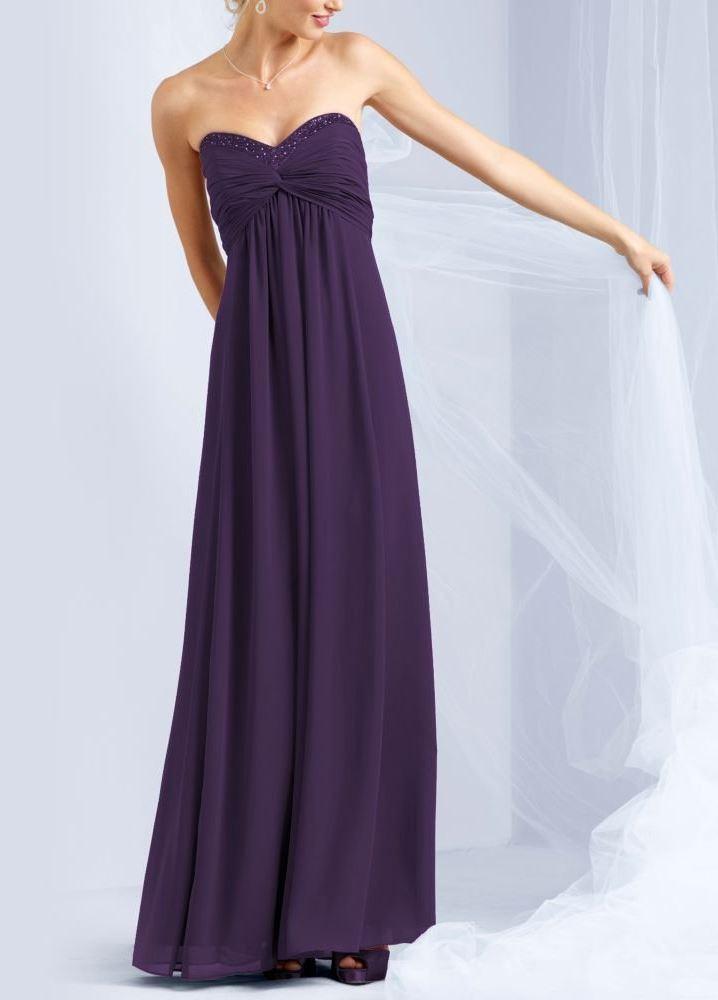 long sheer chiffon dress with beaded neckline blingby