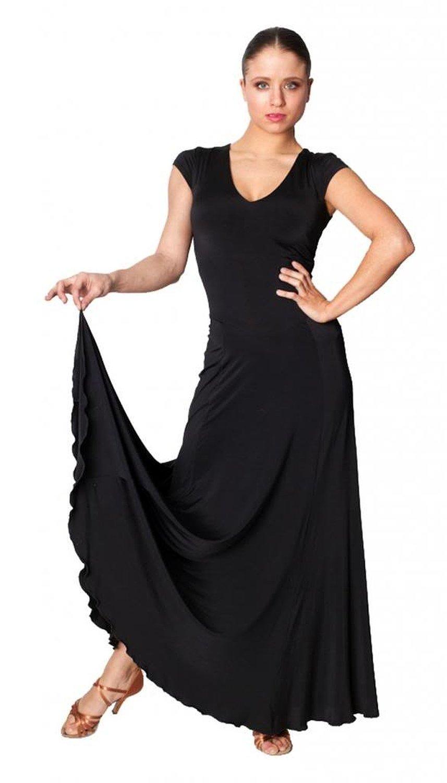 Exposed Zipper Standard/Smooth Dance Gown - Waltz, Tango Practice ...