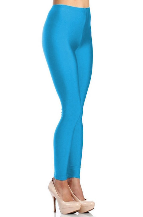 52e79370bab00 Victoria® Women's Shiny Nylon High Waist Stretchy Tricot Skinny Dance  Leggings