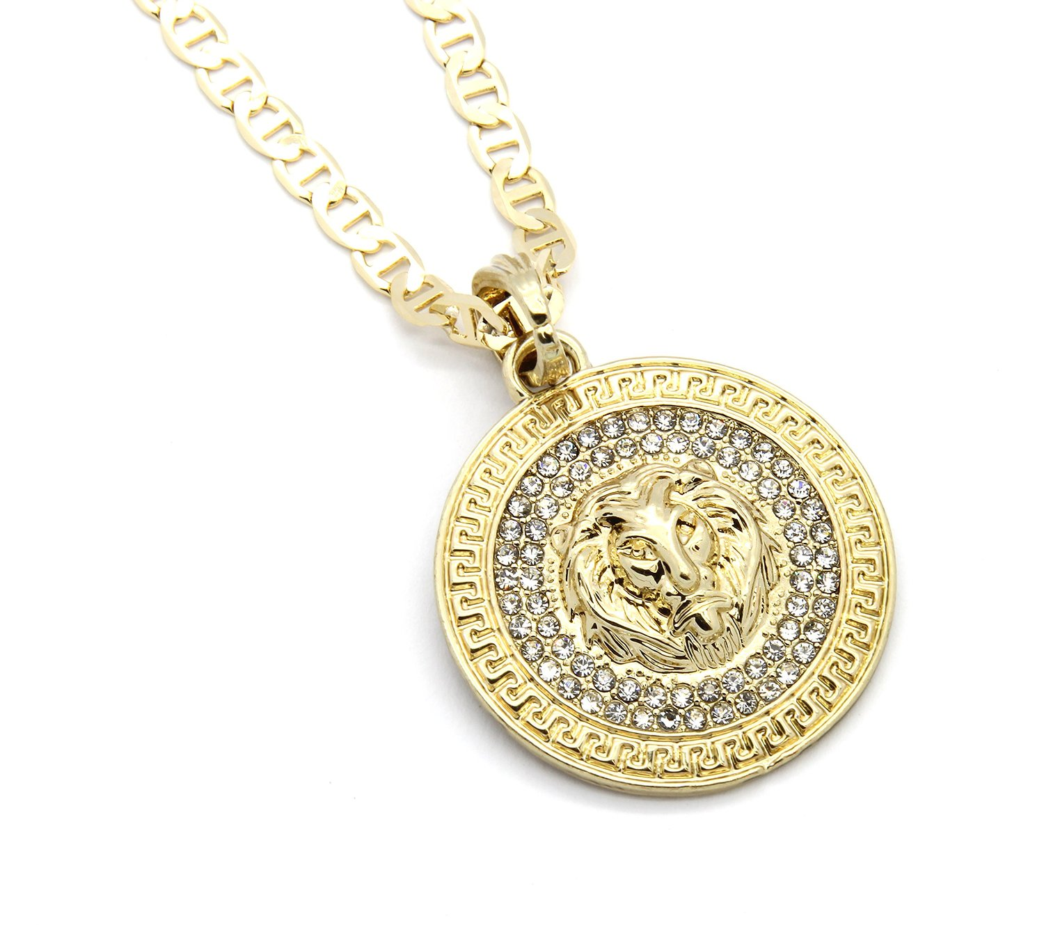 snake medallion long necklace chain us skin