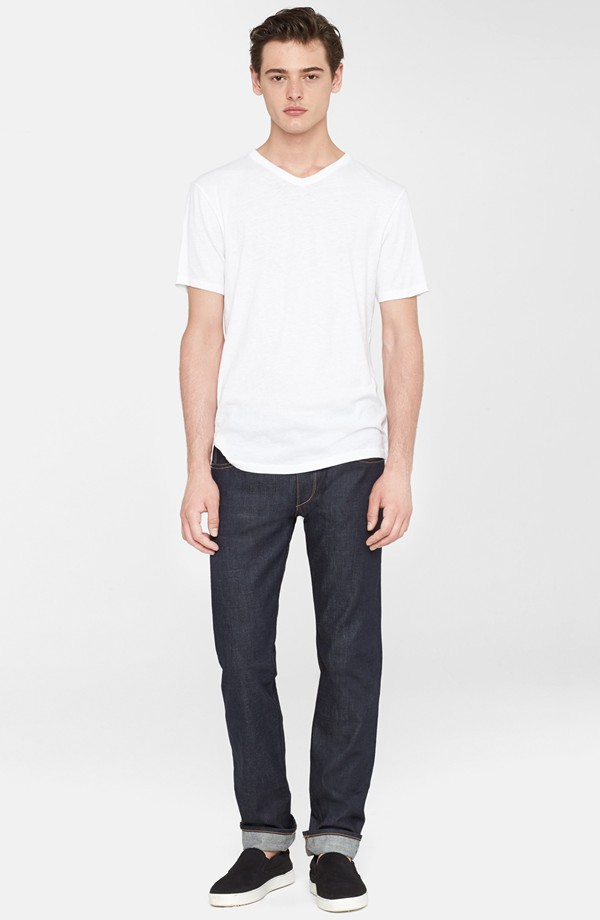 3c648f7424b rag   bone V-Neck White T-Shirt