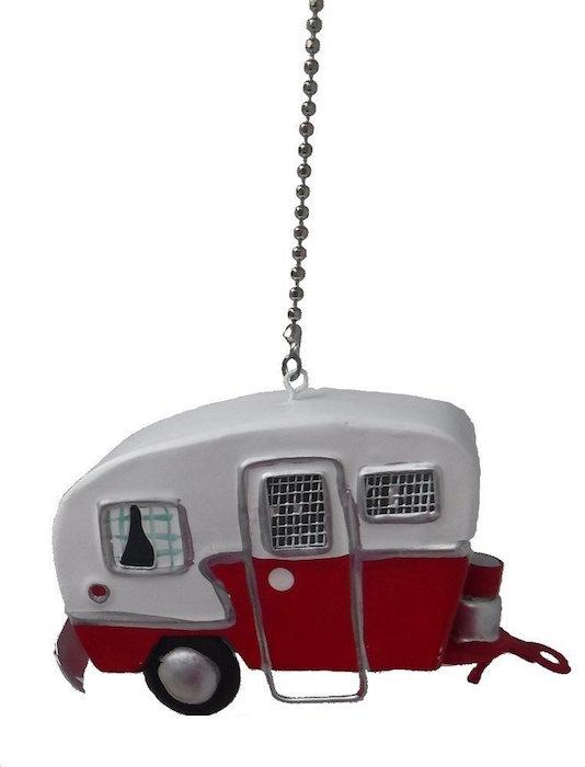 big tin RV trailer CAMPER camping Ceiling Fan Pull light chain extender Ornament