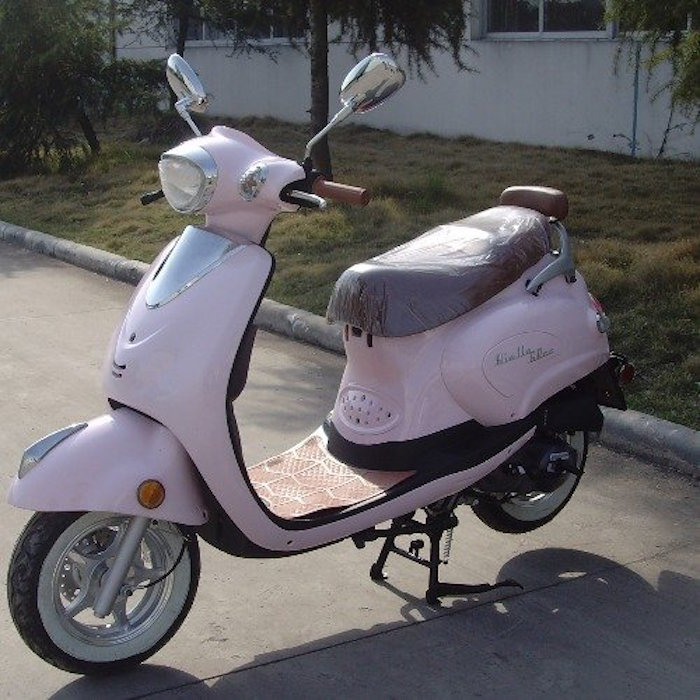 biella tpgs 811 pink 49cc gas 4 stroke moped scooter w. Black Bedroom Furniture Sets. Home Design Ideas