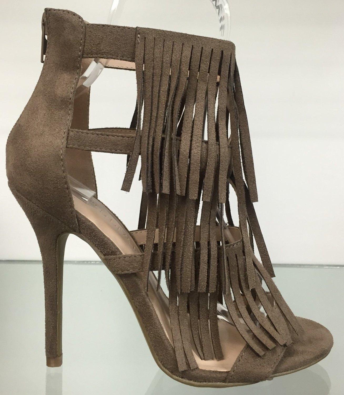 87c6b2d36af WD Adele-177 3 Layer Fringe Open Toe High Heel Strappy Sandal Back Zipper  Shoe