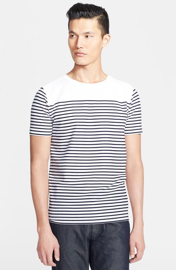Z Zegna Stripe Mercerized Cotton T-Shirt