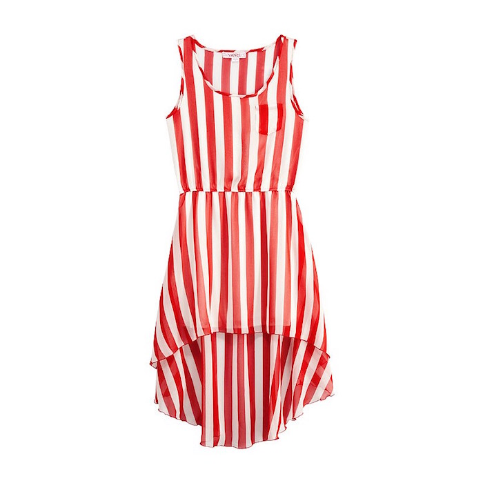 651896f9aab VANCL Avah Vertical Striped Dress Red White