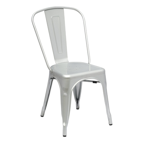T 5816 Modern White Metal Dining Chair