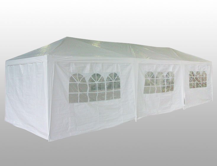Palm Springs Golf 10- X 30-Feet White Party Tent Gazebo Canopy With Sidewalls & Palm Springs Golf 10- X 30-Feet White Party Tent Gazebo Canopy ...