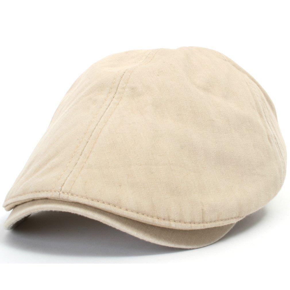 ililily Cotton washing Flat Cap Cabbie Hat Gatsby Ivy Irish Hunting Newsboy 1debff3d634c
