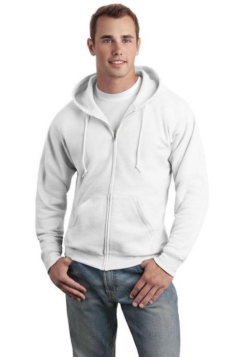 fa5b22a8 Hanes Men's Full Zip EcoSmart Fleece Hoodie | Blingby