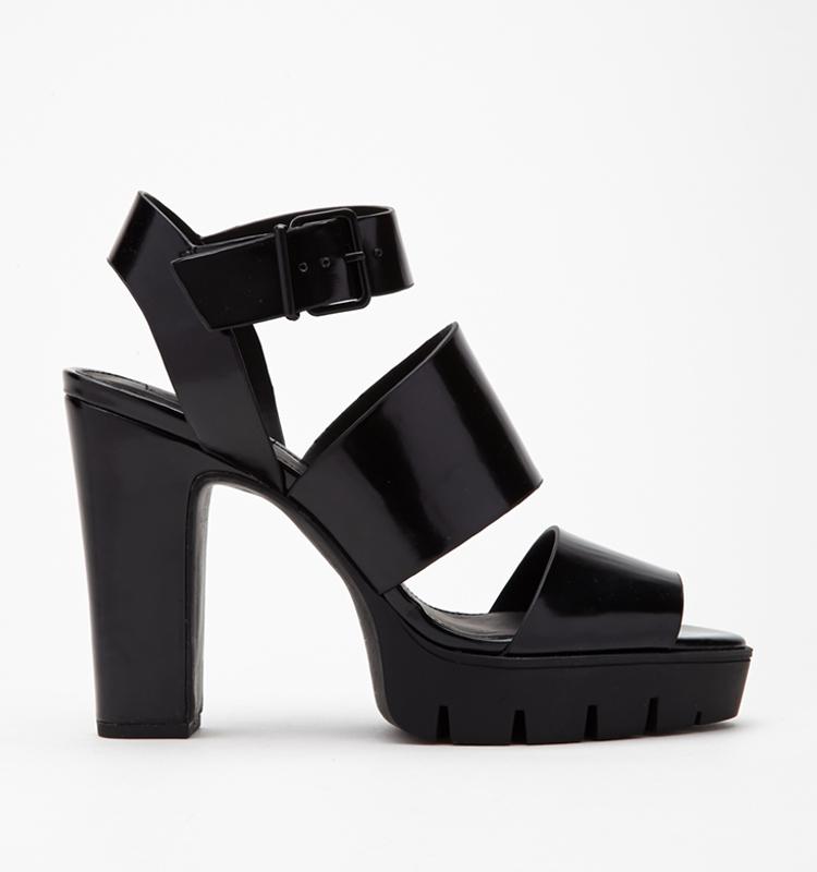 Forever 21 Strappy Platform Sandals  2bcf6b0016