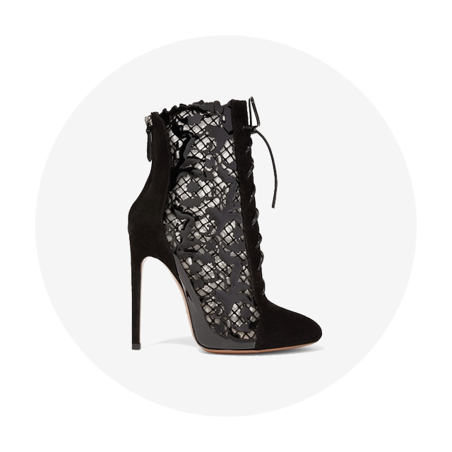 ALAÏA Laser-Cut Ankle Boots
