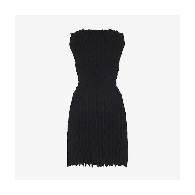 AZZEDINE ALAÏA LASER-CUT KNITTED DRESS