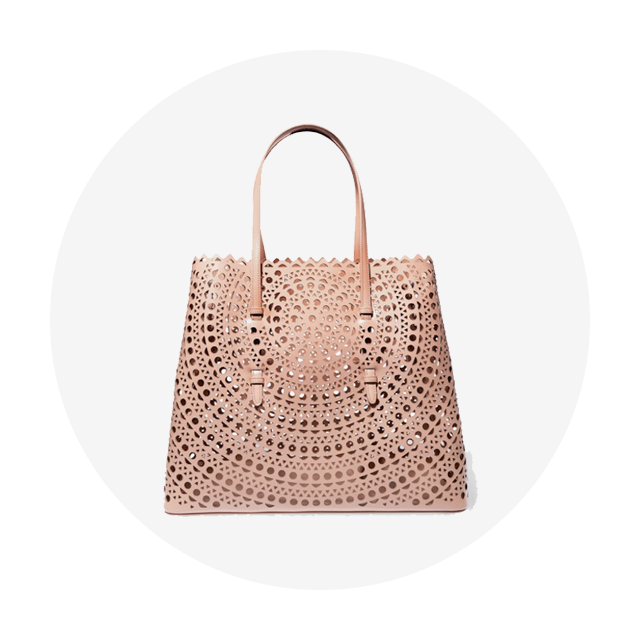 ALAÏA Vienne Laser-Cut Leather Tote
