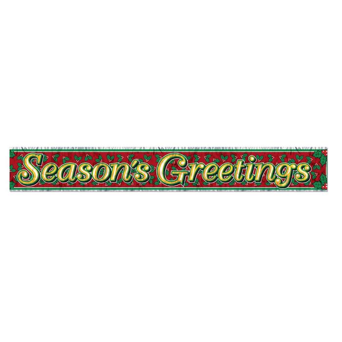 Beistle 1-Pack Metallic Season's Greetings Fringe Banner