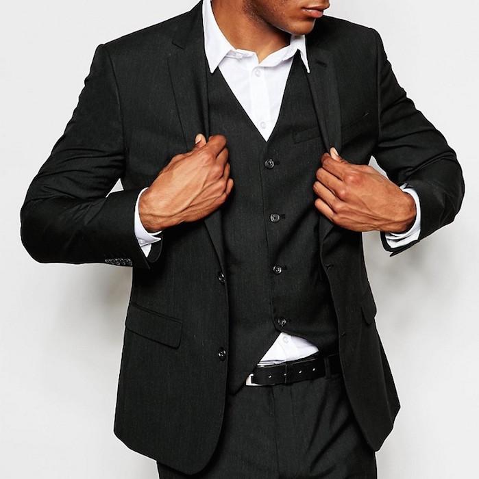 fd05b870892 ASOS Slim Suit Jacket In Black