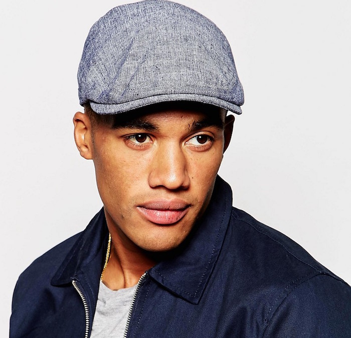 ASOS Flat Cap In Washed Chambray  eb0974882fa