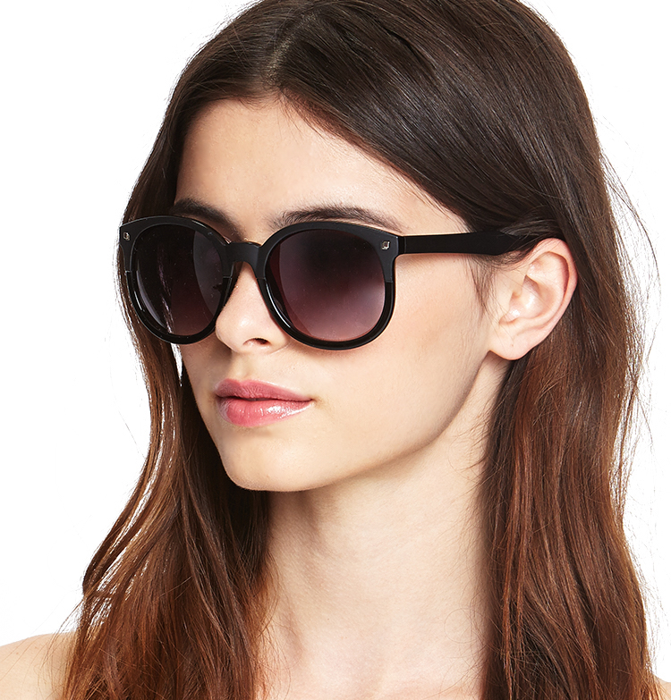 Forever 21 Two-Tone Round Sunglasses