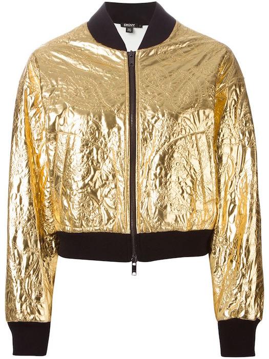 DKNY paisley embroidered bomber jacket