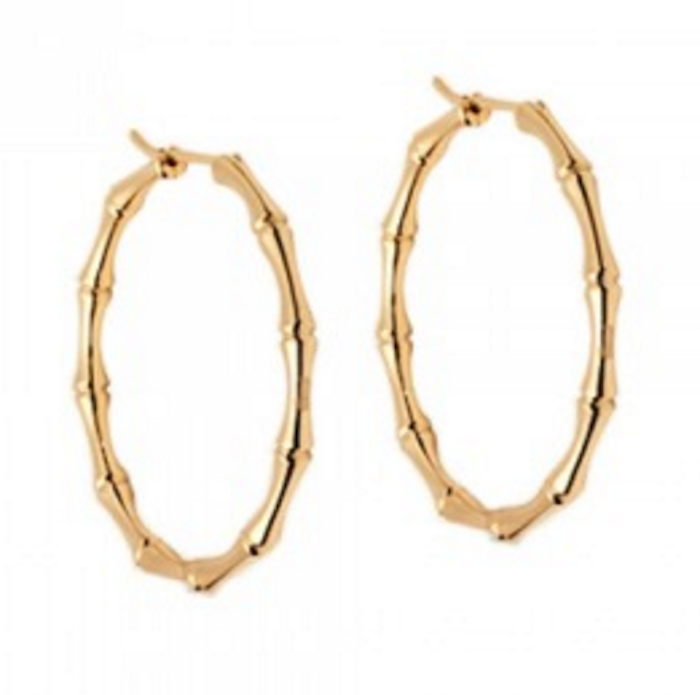 d5702db7c Gucci Gold Bamboo Hoop Earrings | Blingby