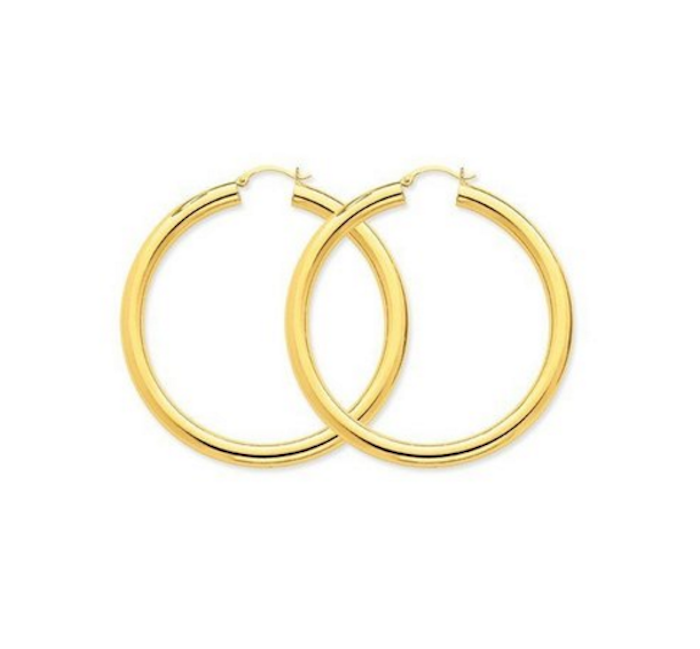 bryson tiller earrings bijou 14k yellow gold 5mm lightweight hoop earrings blingby 7609