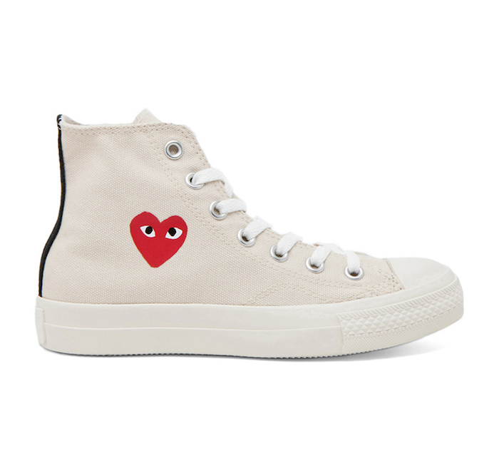 81325894d929 COMME DES GARCONS PLAY CONVERSE HIGH TOP CANVAS SNEAKERS