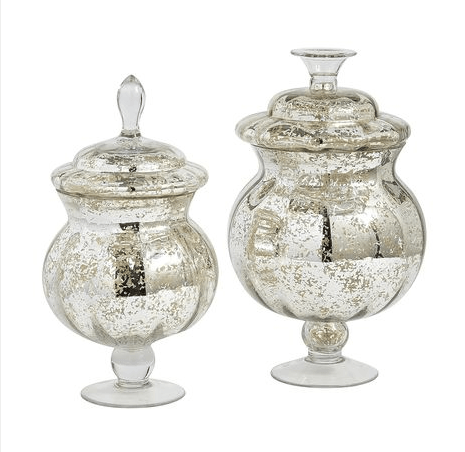 Mercury Glass Apothecary Jars Blingby