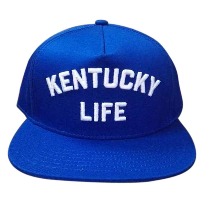 1393bd04 New Blue Kentucky Life Snapback Fitted Cap | Blingby