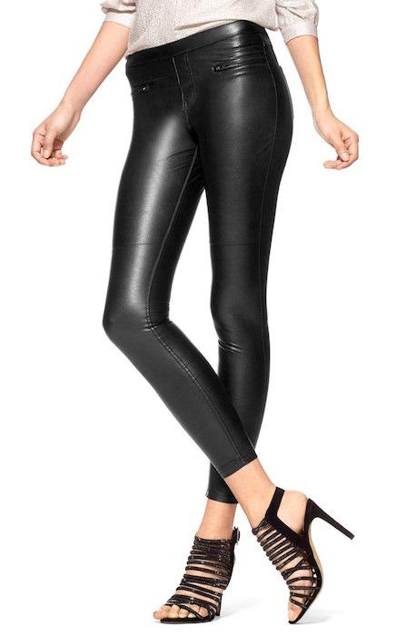 5c7e83d74e816 Hue 'Leatherette Skimmer' Faux Leather Leggings | Blingby