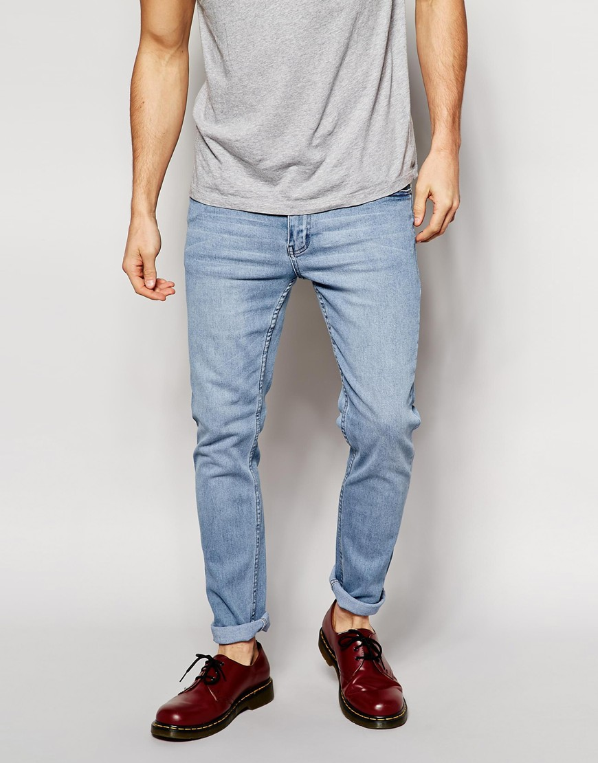3ec5d071cdf Cheap Monday Tight Jeans Skinny Fit in Stonewash Blue