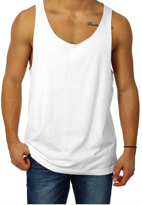 7a2cc161252862 OPEN EDGE LOOSE TANK TOP MEN BY URBAN CLASSICS WHITE
