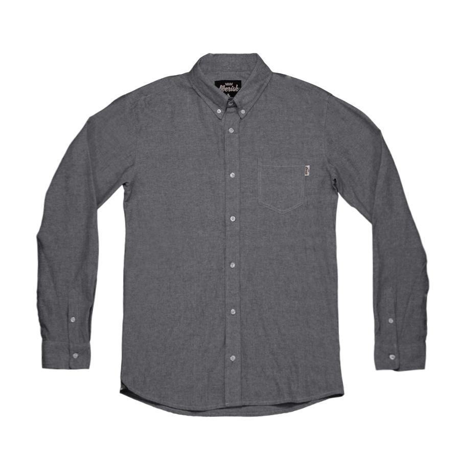 Grey Button Down Shirt Mens