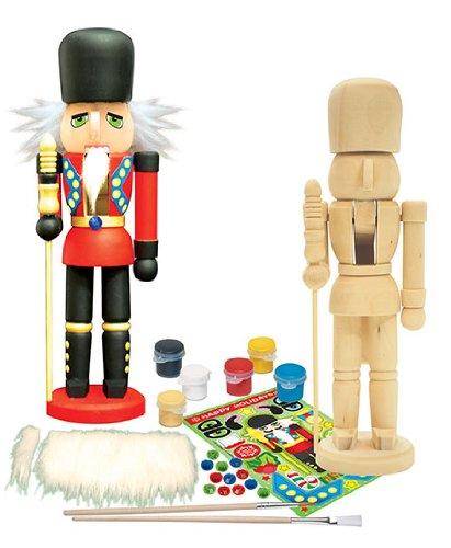 Masterpieces works of ahhh nutcracker guardsman wood paint for Floor nutcracker