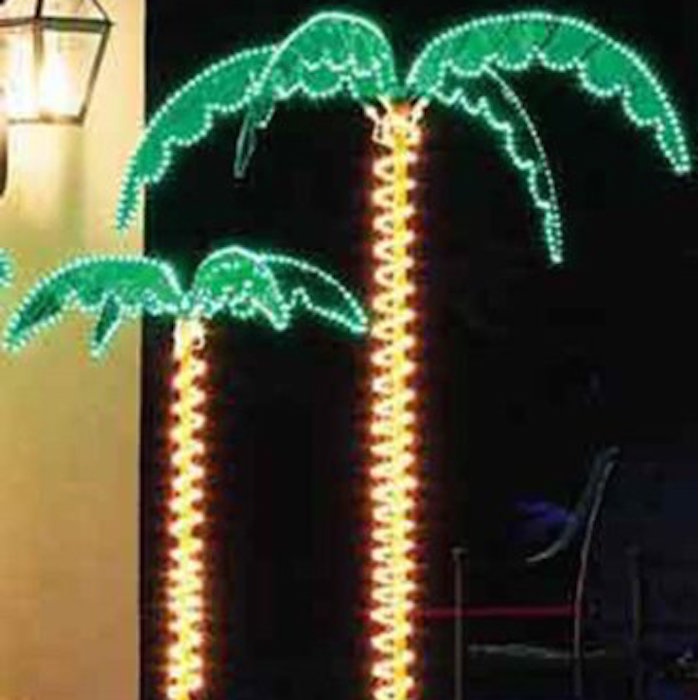 45 54 inch deluxe tropical holographic led rope lighted palm 45 54 inch deluxe tropical holographic led rope lighted palm tree aloadofball Gallery