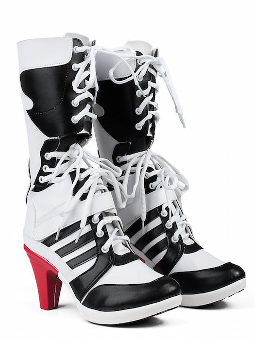 f40c001ce7ed Topcosplay Batman Suicide Squad Harley Quinn Cosplay Shoes Boots Pu Leather