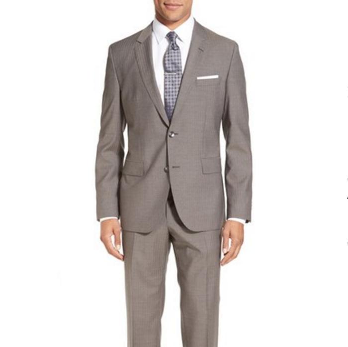 1e8b5d294 BOSS 'Johnstons/Lenon' Trim Fit Stripe Wool Suit | Blingby