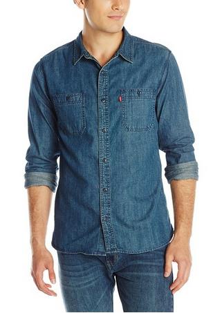 3f21cd34363 Levi s Men s Standard Denim Work Shirt